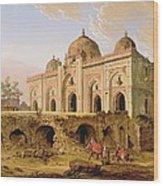 Qal' A-l-kuhna Masjid - Purana Qila Wood Print