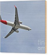 Qantas Heading Home Wood Print