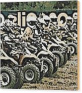 Quad Racers Wood Print