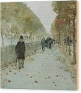 Quai Du Louvre Wood Print by Childe Hassam
