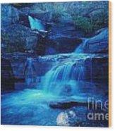 Quaint Falls  Wood Print