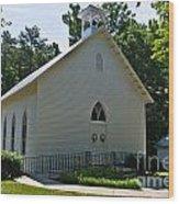 Quaker Church Wood Print by Scott Hervieux