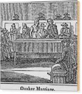 Quaker Marriage, 1842 Wood Print