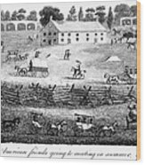Quaker Meeting, 1811 Wood Print by Granger