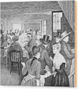 Quaker Meeting, 1888 Wood Print