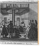 Quaker Meeting, C1790 Wood Print