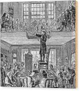 Quaker Meeting House Wood Print