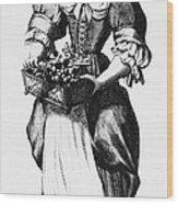 Quaker Woman, 17th Century Wood Print