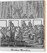 Quaker Worship, 1842 Wood Print
