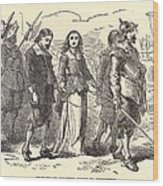 Quakers Lead To Their Execution. Mary Wood Print by Everett
