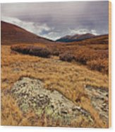 Quanella Pass Wood Print by Dragonfly 7