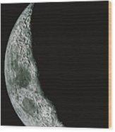 Quarter Moon Wood Print