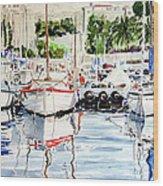 Quattro Barche Al Pennello Di Bonaria Wood Print