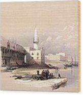 Quay At Suez Febrary 11th 1839 Wood Print