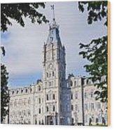 Quebec Parliament Buildings Quebec Wood Print