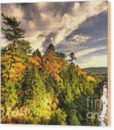 Quechee Gorge In The Fall  Wood Print