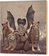 Queen Of Cats Wood Print