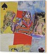 Queen Of Spades 45-52 Wood Print