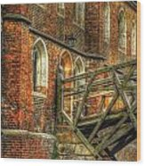 Queens' College And Mathematical Bridge Wood Print