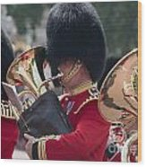 Queens Guards Band Wood Print