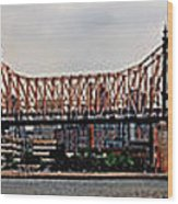 Queensboro Bridge Wood Print