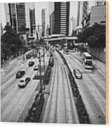 Queensway And Queens Road East In The Admiralty District Hong Kong Island Hksar China Wood Print