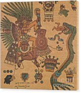 Quetzalcoatl, Aztec Feathered Serpent Wood Print
