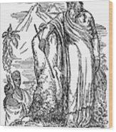 Quetzalcoatl Wood Print