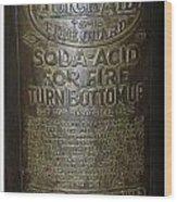 Quick Aid Extinguisher Wood Print