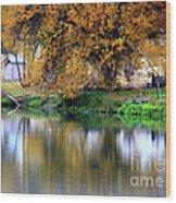 Quiet Autumn Day Wood Print