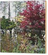 Quiet Autumn Pond Wood Print