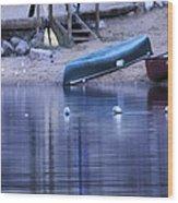 Quiet Canoes Wood Print