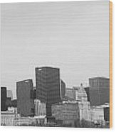 Quiet City Wood Print