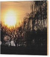 Quiet Country Sunrise Wood Print