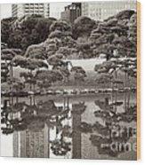 Quiet Moment In Tokyo Wood Print