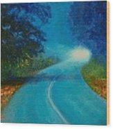 Quiet Road Home Wood Print