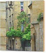 Quiet Street In Sarlat Wood Print