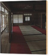 Quietude Of Zen Meditation Room - Kyoto Japan Wood Print by Daniel Hagerman