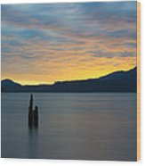 Quinault Sunset Wood Print