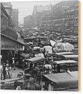 Quincy Market From Faneuil Hall - Boston - C 1906 Wood Print