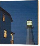 Quirpon Island Lighthouse And Inn Wood Print