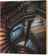 Qvb Stairs Wood Print