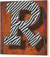 R Wood Print