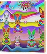 Rabbits Wood Print