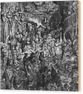 Rabelais: Gargantua And Pantagruel.  Illustration Of The Life Of Gargantua And Of Pantagruel By Fran�ois Rabelais. Wood Engraving, 1873, After Gustave Dor� Wood Print