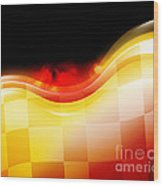 Race Car Speed Flames Background Wood Print by Angela Waye