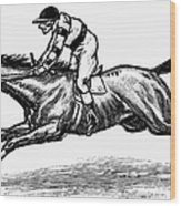 Race Horse, 1900 Wood Print