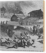 Race Riot In Memphis, Tennessee, May 2 Wood Print