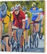 Race Warm Up Wood Print