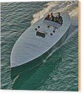 Raceboat Mercury Wood Print